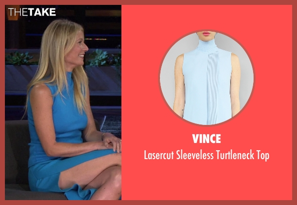 Vince blue top from Chelsea seen with Gwyneth Paltrow