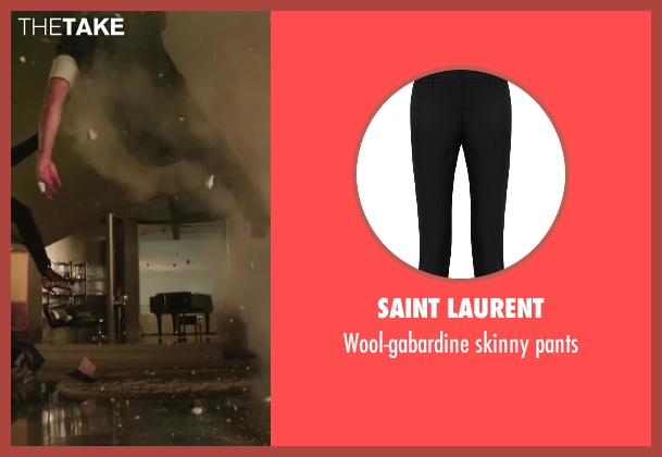 SAINT LAURENT black pants from Iron Man 3 seen with Gwyneth Paltrow (Pepper Potts)