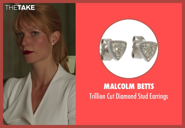 MALCOLM BETTS earrings from Iron Man 3 seen with Gwyneth Paltrow (Pepper Potts)