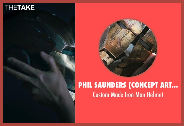 Phil Saunders (Concept Artist) helmet from Iron Man 3 seen with Gwyneth Paltrow (Pepper Potts)