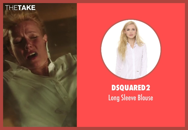 DSQUARED2 white blouse from Iron Man 3 seen with Gwyneth Paltrow (Pepper Potts)