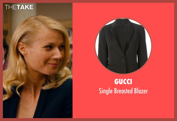 Gucci black blazer from Mortdecai seen with Gwyneth Paltrow (Johanna)