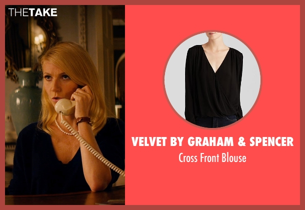 Velvet by Graham & Spencer black blouse from Mortdecai seen with Gwyneth Paltrow (Johanna)