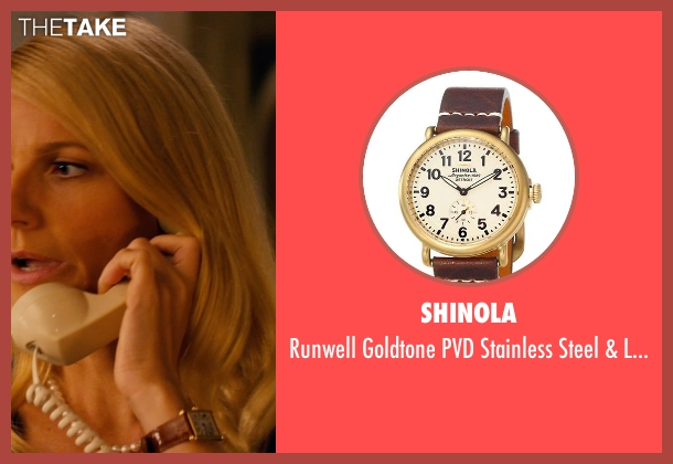 Shinola gold watch from Mortdecai seen with Gwyneth Paltrow (Johanna)