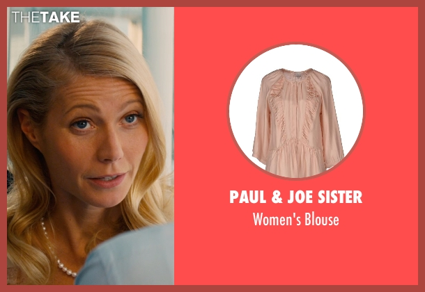 Paul & Joe Sister pink blouse from Mortdecai seen with Gwyneth Paltrow (Johanna)