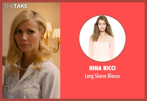 Nina Ricci white blouse from Mortdecai seen with Gwyneth Paltrow (Johanna)