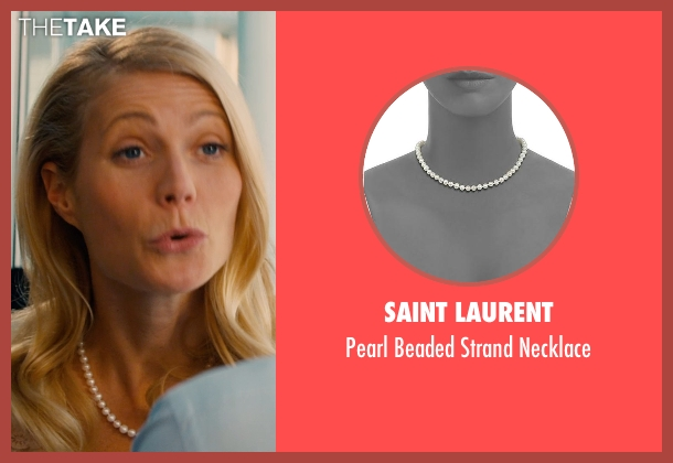 Saint Laurent white necklace from Mortdecai seen with Gwyneth Paltrow (Johanna)