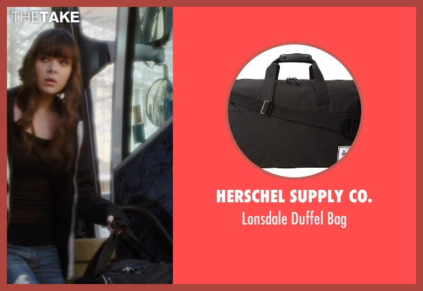 Herschel Supply Co. black bag from Barely Lethal seen with Hailee Steinfeld (Megan Walsh)