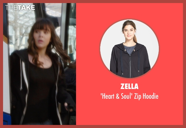 Zella black hoodie from Barely Lethal seen with Hailee Steinfeld (Megan Walsh)
