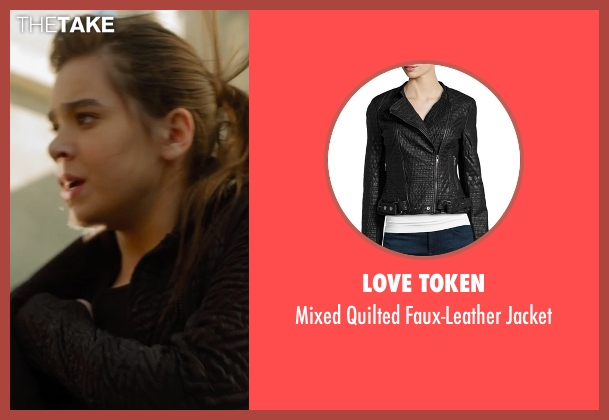 Love Token black jacket from Barely Lethal seen with Hailee Steinfeld (Megan Walsh)