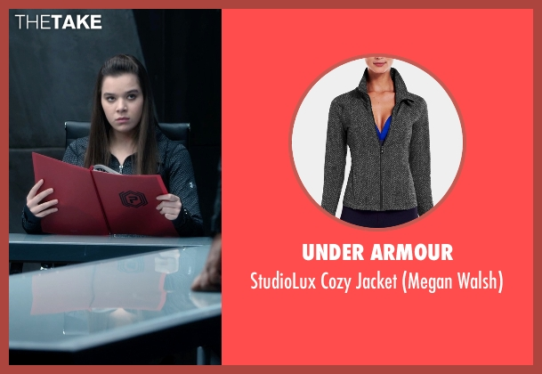 Under Armour black jacket from Barely Lethal seen with Hailee Steinfeld (Megan Walsh)