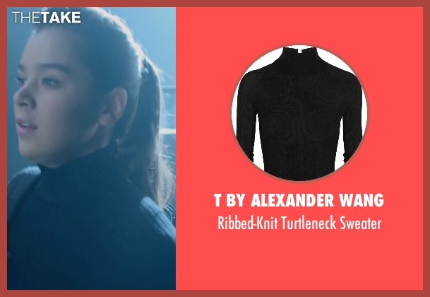 T By Alexander Wang black sweater from Barely Lethal seen with Hailee Steinfeld (Megan Walsh)