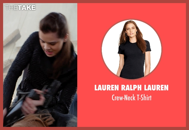 Lauren Ralph Lauren black t-shirt from Barely Lethal seen with Hailee Steinfeld (Megan Walsh)