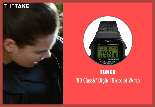 Timex black watch from Barely Lethal seen with Hailee Steinfeld (Megan Walsh)