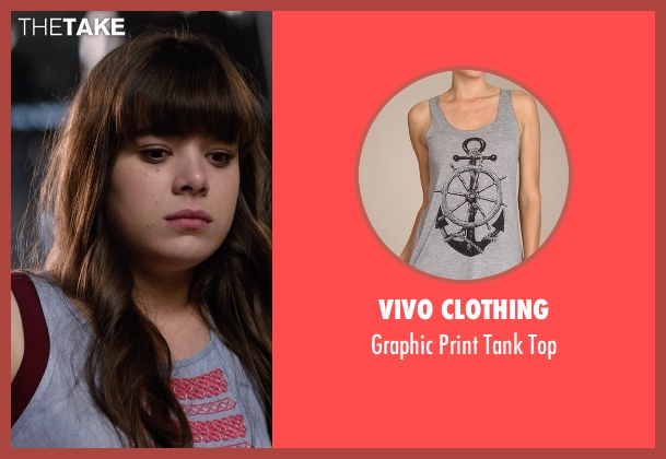 Vivo Clothing gray top from Barely Lethal seen with Hailee Steinfeld (Megan Walsh)