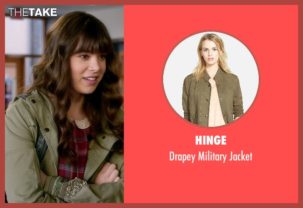 Hinge green jacket from Barely Lethal seen with Hailee Steinfeld (Megan Walsh)