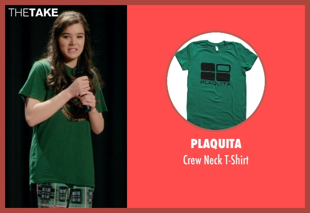 Plaquita green t-shirt from Barely Lethal seen with Hailee Steinfeld (Megan Walsh)