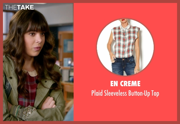 En Creme red top from Barely Lethal seen with Hailee Steinfeld (Megan Walsh)