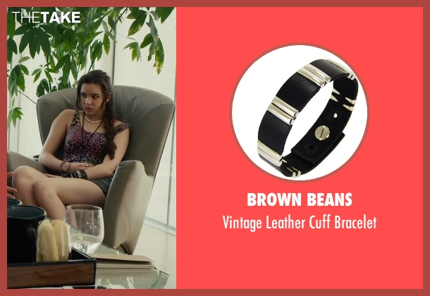 Brown Beans black bracelet from Begin Again seen with Hailee Steinfeld (Violet)