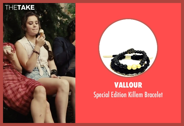 Vallour black bracelet from Begin Again seen with Hailee Steinfeld (Violet)