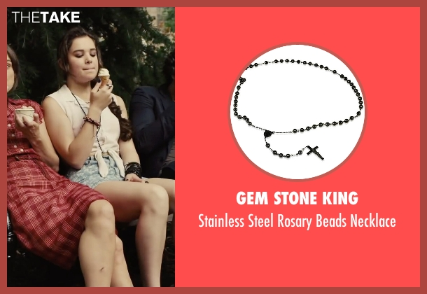 Gem Stone King black necklace from Begin Again seen with Hailee Steinfeld (Violet)
