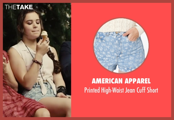 American Apparel blue short from Begin Again seen with Hailee Steinfeld (Violet)