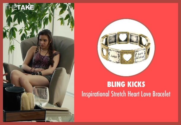 Bling Kicks gold bracelet from Begin Again seen with Hailee Steinfeld (Violet)