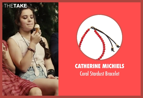 Catherine Michiels red bracelet from Begin Again seen with Hailee Steinfeld (Violet)