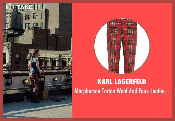 Karl Lagerfeld red pants from Begin Again seen with Hailee Steinfeld (Violet)
