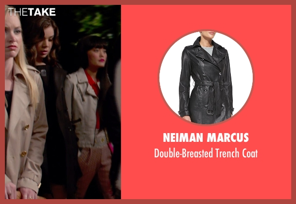 Neiman Marcus black coat from Pitch Perfect 2 seen with Hailee Steinfeld (Emily Hobbs)