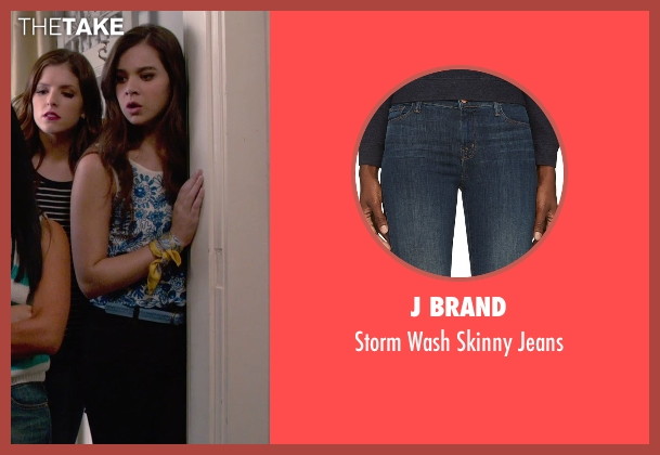 J Brand blue jeans from Pitch Perfect 2 seen with Hailee Steinfeld (Emily Hobbs)