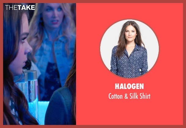 Halogen blue shirt from Pitch Perfect 2 seen with Hailee Steinfeld (Emily Hobbs)