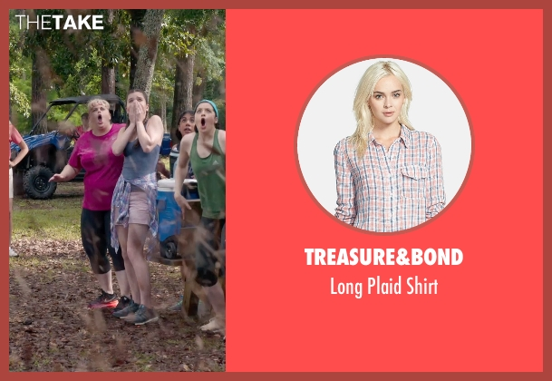 Treasure&Bond pink shirt from Pitch Perfect 2 seen with Hailee Steinfeld (Emily Hobbs)