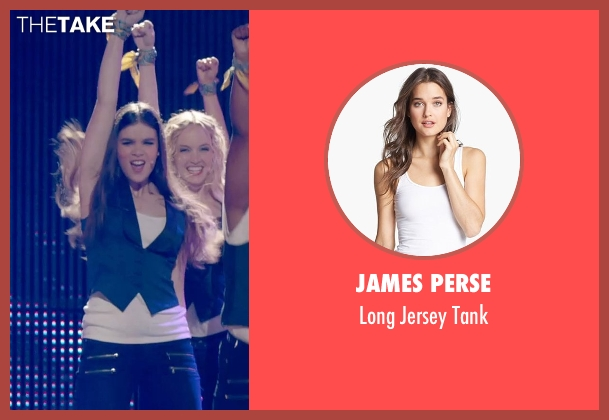 James Perse white tank from Pitch Perfect 2 seen with Hailee Steinfeld (Emily Hobbs)