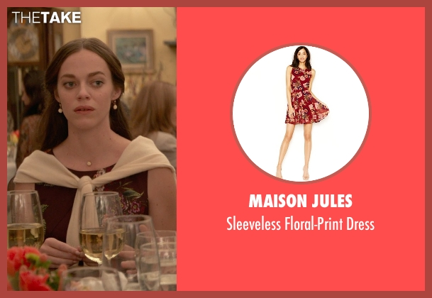 Maison Jules red dress from Ricki and the Flash seen with Hailey Gates (Emily Hobbs)