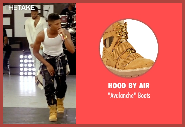 Hood By Air beige boots from Empire seen with Hakeem Lyon (Bryshere Y. Gray)