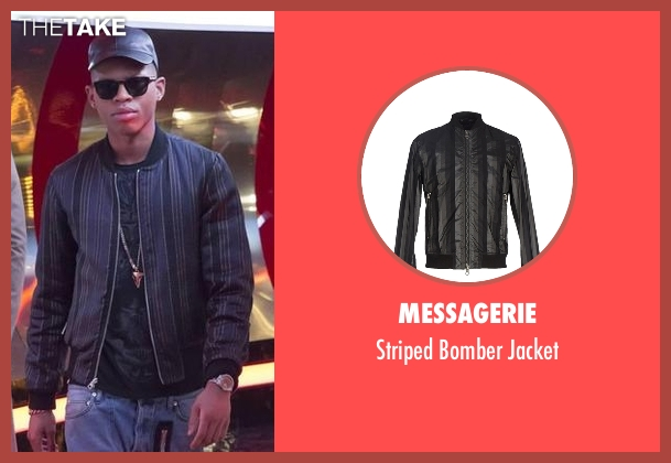 Messagerie black jacket from Empire seen with Hakeem Lyon (Bryshere Y. Gray)