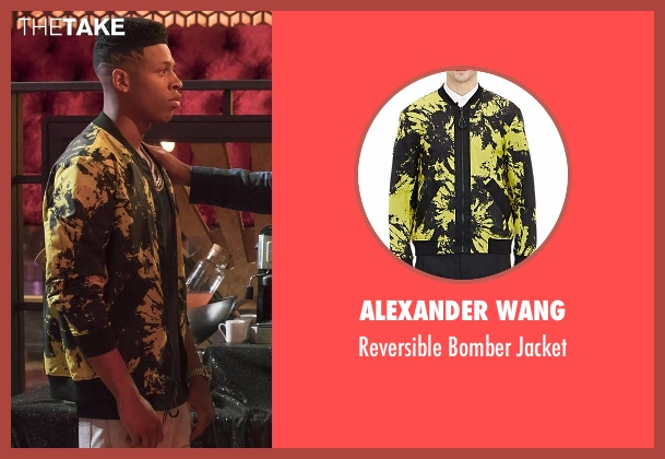 Alexander Wang black jacket from Empire seen with Hakeem Lyon (Bryshere Y. Gray)