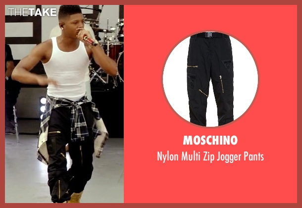 Moschino black pants from Empire seen with Hakeem Lyon (Bryshere Y. Gray)