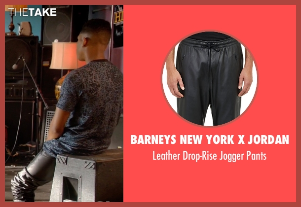 Barneys New York X Jordan black pants from Empire seen with Hakeem Lyon (Bryshere Y. Gray)