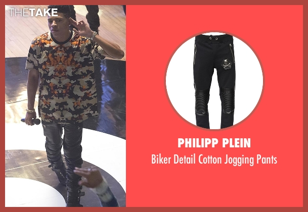 Philipp Plein black pants from Empire seen with Hakeem Lyon (Bryshere Y. Gray)
