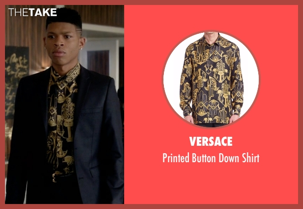 Versace black shirt from Empire seen with Hakeem Lyon (Bryshere Y. Gray)