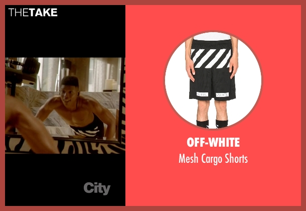 Off-White black shorts from Empire seen with Hakeem Lyon (Bryshere Y. Gray)
