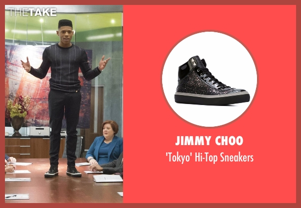 Jimmy Choo black sneakers from Empire seen with Hakeem Lyon (Bryshere Y. Gray)