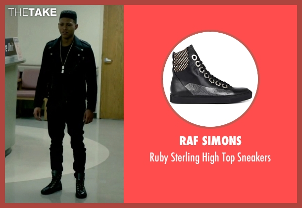 Raf Simons black sneakers from Empire seen with Hakeem Lyon (Bryshere Y. Gray)