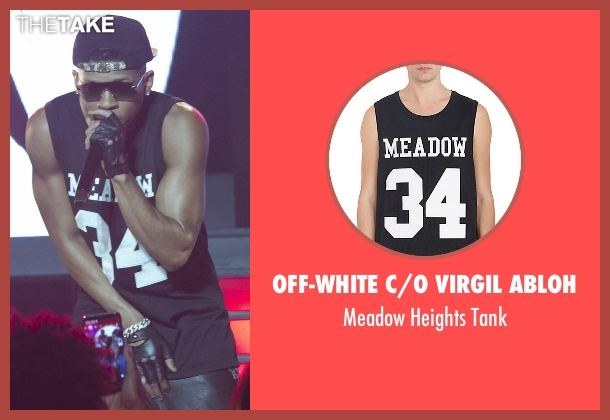 Off-White C/O Virgil Abloh  black tank from Empire seen with Hakeem Lyon (Bryshere Y. Gray)