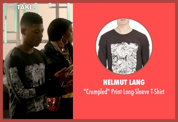 Helmut Lang black t-shirt from Empire seen with Hakeem Lyon (Bryshere Y. Gray)