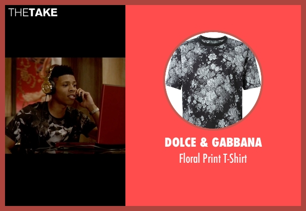 Dolce & Gabbana black t-shirt from Empire seen with Hakeem Lyon (Bryshere Y. Gray)