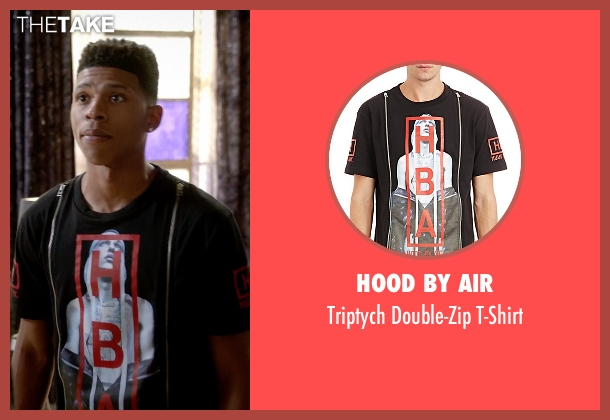 Hood By Air black t-shirt from Empire seen with Hakeem Lyon (Bryshere Y. Gray)