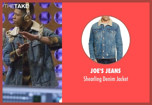 Joe's Jeans blue jacket from Empire seen with Hakeem Lyon (Bryshere Y. Gray)